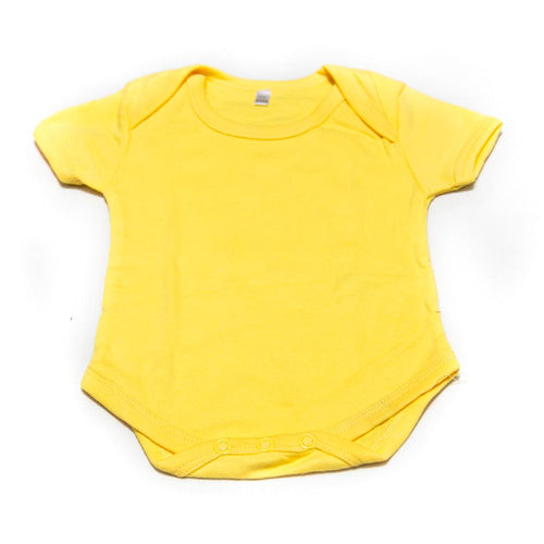 Newborn Baby Boys Girls Romper Bodysuit For 0 To 3 Month Kids – Yellow - Romper - diKHAWA Online Shopping in Pakistan