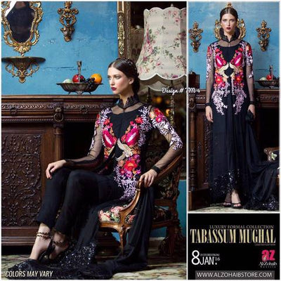 TABASSUM MUGHAL NET SUIT - Replica - Unstitched