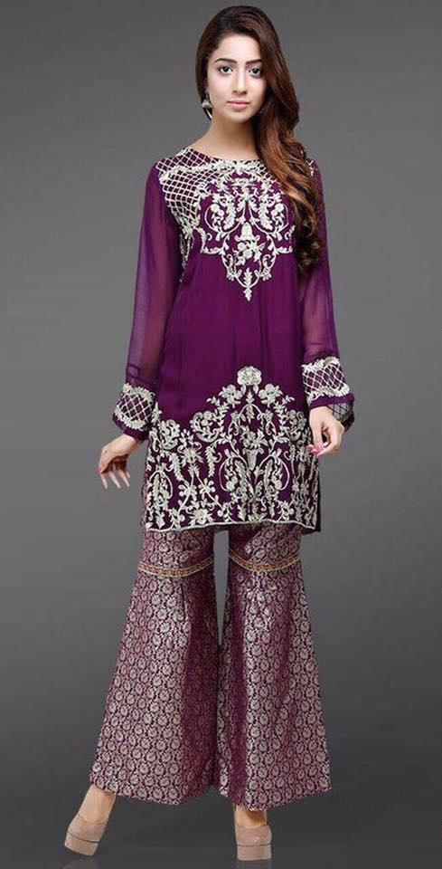 Anaya Embroidered Chiffon Suit