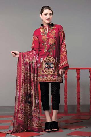 ETHNIC KHADDAR SUIT - Replica - Unstitched