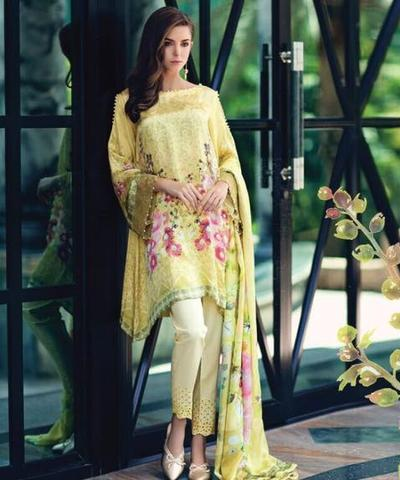 NOURHAN SILK SUIT - Replica - Unstitched