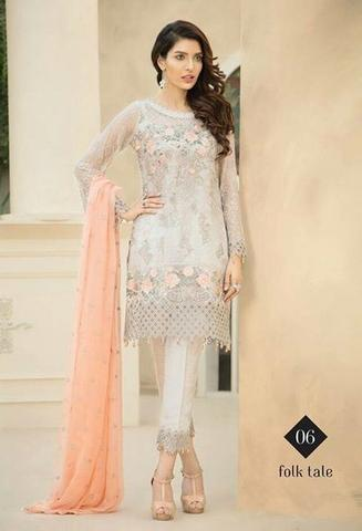 BAROQUE CHIFFON SUIT (Replica) (Unstitched)