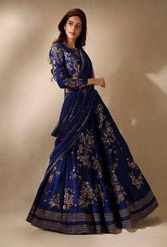 INDIAN VELVET LEHENGA (Replica) (Unstitched)