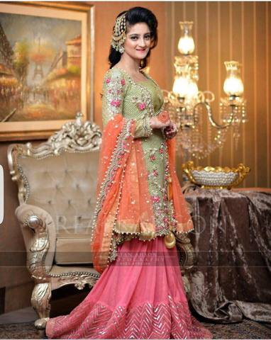 INDIAN CHIFFON LEHENGA (Replica) (Unstitched)