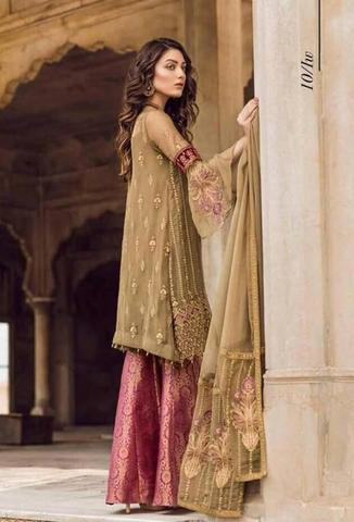 IZNIK CHIFFON SUIT (Replica) (Unstitched)