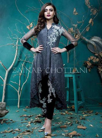 ZAINAB CHOTTANI NET SUIT (Replica) (Unstitched)