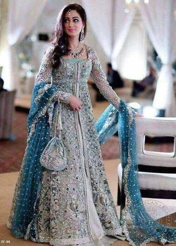 ELAN BRIDAL CHIFFON SUIT (Replica) (Unstitched)
