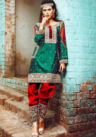 NOMI ANSARI SILK SUIT (Replica) (Unstitched)
