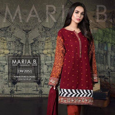 MARIA B COTTON SUIT (Replica) (Unstitched)