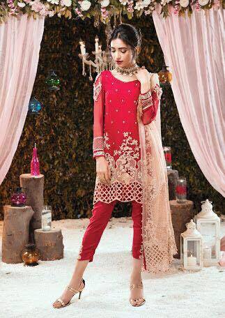 GULAAL CHIFFON SUIT - Replica - Unstitched