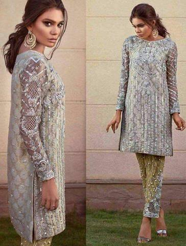 MINA HASAN NET SUIT - Replica - Unstitched
