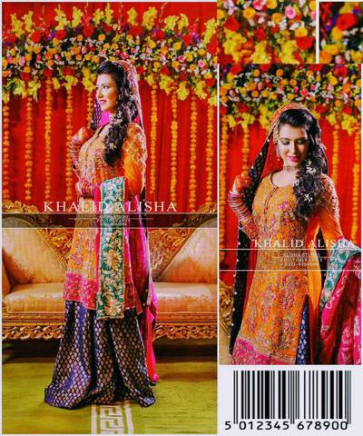 ALIZAH WAQAR BRIDAL SUIT - Replica - Unstitched
