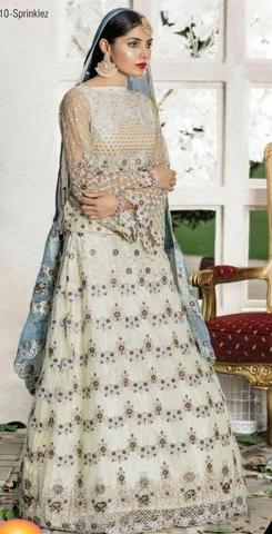 MARYAM'S CHIFFON BRIDAL SUIT - Replica - Unstitched