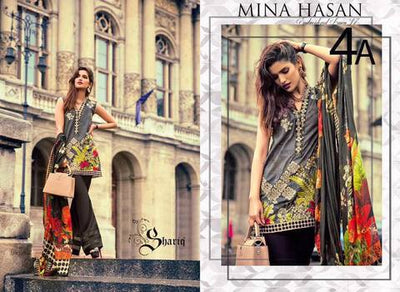 MINA HASAN LAWN SUIT - Replica - Unstitched