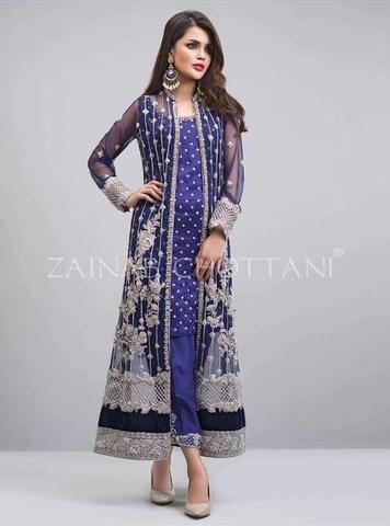 ZAINAB CHOTTANI NET SUIT - Replica - Unstitched
