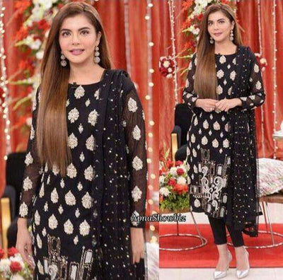 NIDA YASIR CHIFFON SUIT - Replica - Unstitched