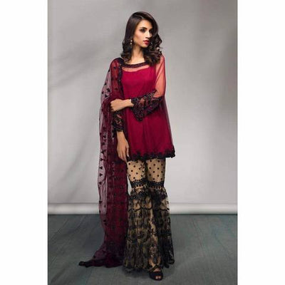 MINA HASSAN CHIFFON SUIT - Replica - Unstitched