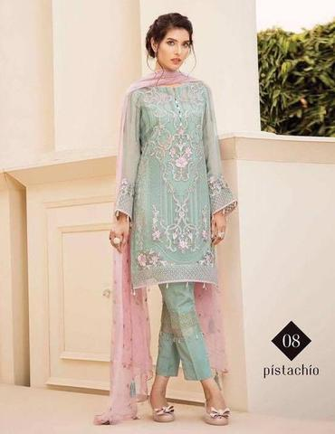 BAROQUE CHIFFON SUIT - Replica - Unstitched