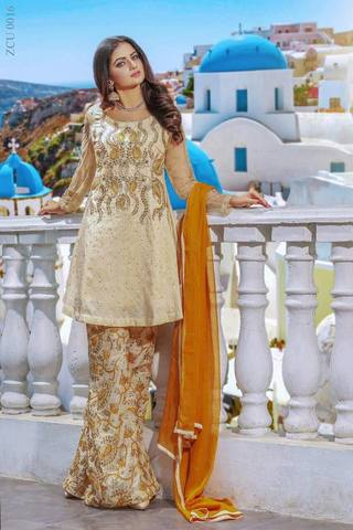 MULAYE CHIFFON EMBROIDERED SUIT - Replica - Unstitched