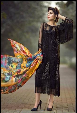 ASIFA & NABEEL ORGANZA SUIT - Replica - Unstitched