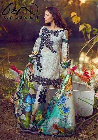 ASIFA & NABEEL LAWN SUIT - Replica - Unstitched