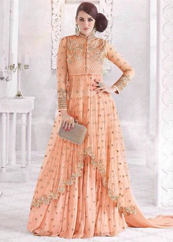 INDIAN CHIFFON MAXI - Replica - Unstitched
