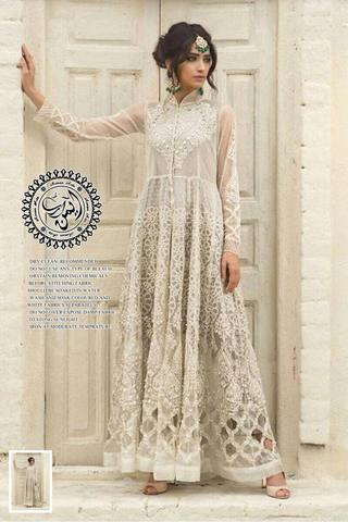 ROZINA MUNIB CHIFFON SUIT (Replica) (Unstitched)