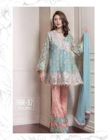 BAROQUE CHIFFON SUIT(Replica)(Unstitched)