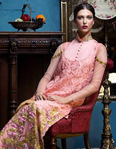 TABASSUM MUGHAL CHIFFON SUIT(Replica)(Unstitched)
