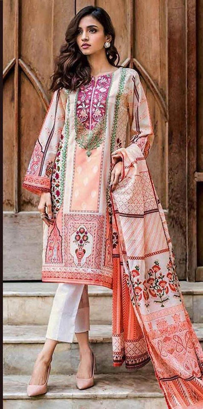 Gul Ahmed Now Available Fabric Of Shirt Is Printed Lawn - Replica - Unstitched