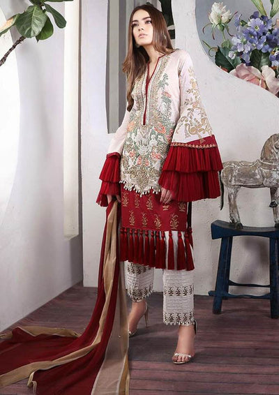 Sana Safinaz Collection Printed Lawn Front - Replica - Unstitched