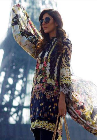 Firdous Lawn Suit (Replica) (Unstitched)