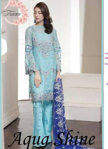 MARYAM'S CHIFFON Paki Dresses Collection (Replica)(Unstitched)