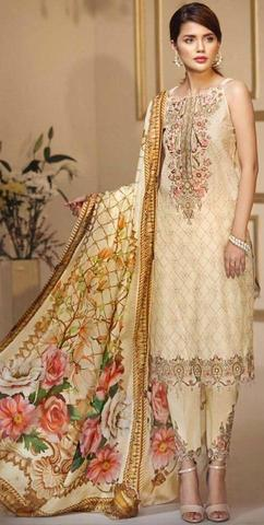 ANAYA LAWN SUIT (Replica) (Unstitched)