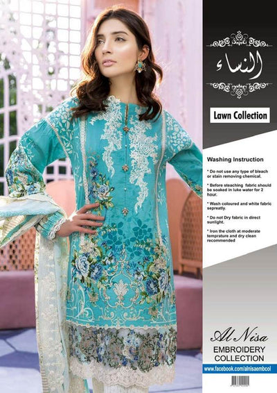 Firdous Lawn With Lawn Dupatta Printed Lawn Front - Replica - Unstitched