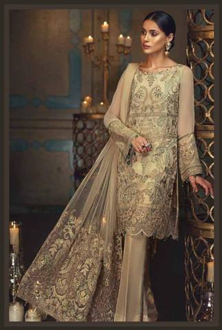 BAROQUE CHIFFON SUIT  (Replica)(Unstitched)