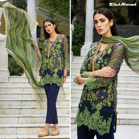 Gul Ahmed hit code avb Fabric Cotton (Replica)(Unstitched)