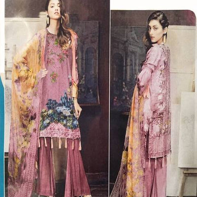 SOBIA NAZIR KHADDAR SUIT (Replica) (Unstitched)