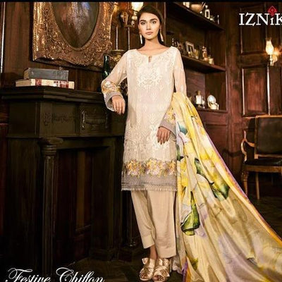 IZNIK CHIFFON COLLECTION 2019 Replica)(Unstitched)