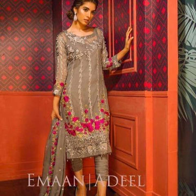 Emaan Adeel Cotton Embroidered Suit (Replica) (Unstitched)