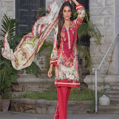 FIRDOUS LINEN SUIT (Replica) (Unstitched)