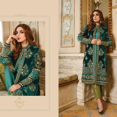 Maria B Velvet Embroidered Suit (Replica) (Unstitched)