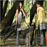 Firdouse Latest Collection Lawn Suit With Chiffon Dupatta - Replica - Unstitched