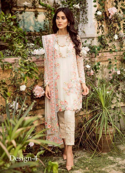 Mina Hasan Chiffon Collection - Replica - Unstitched