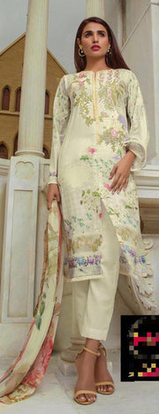 Firdous Cotton Suit - Replica - Unstitched