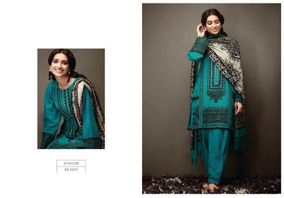 Khaadi Khaddar Dresses - Embroidered Khaddar Dupatta - Replica - Unstitched