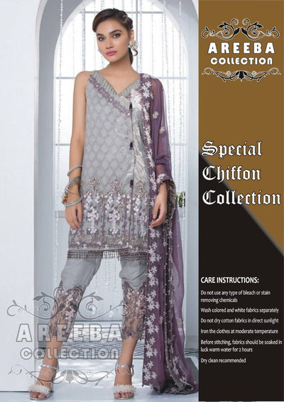 Gulaal Chiffon Dresses - Embroidered Chiffon Dupatta - Replica - Unstitched