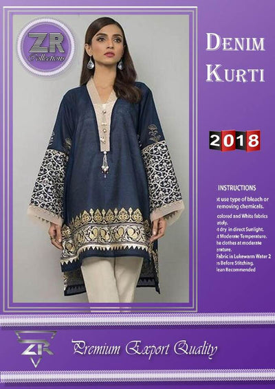 ZR Party Wear Kurti - Replica - Unstitched