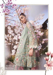 Walima Net Dresses - Embroidered Net Dupatta - Replica - Unstitched