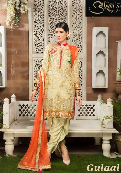 Gulaal Mysoori Dresses - Embroidered Net Dupatta - Replica - Unstitched